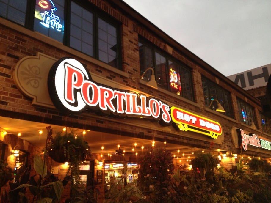 Famous Portillo's 2 blocks away