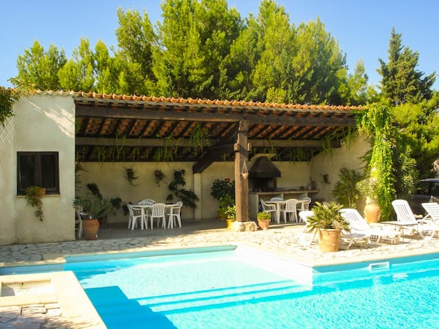 Nice cottage with large pool in renowed vineyard