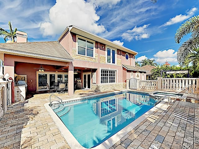 New Listing! European-Style Home on Canal w/ Pool