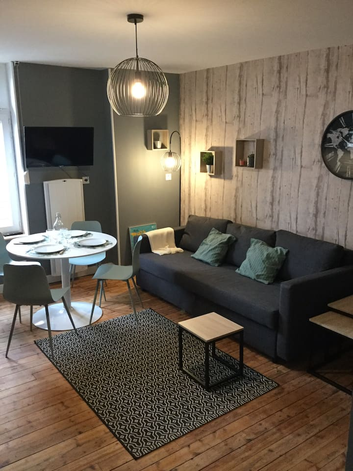 Appartement rénové proche centre ville et gare