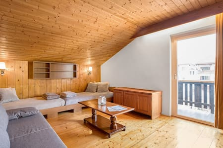 Rustic Dolomites City Apartment with Balcony, Mountain View & Wi-Fi; Parking Available, Pets Allowed