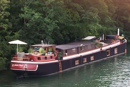 Logement indépendant sur péniche - Saint Mammès - 船