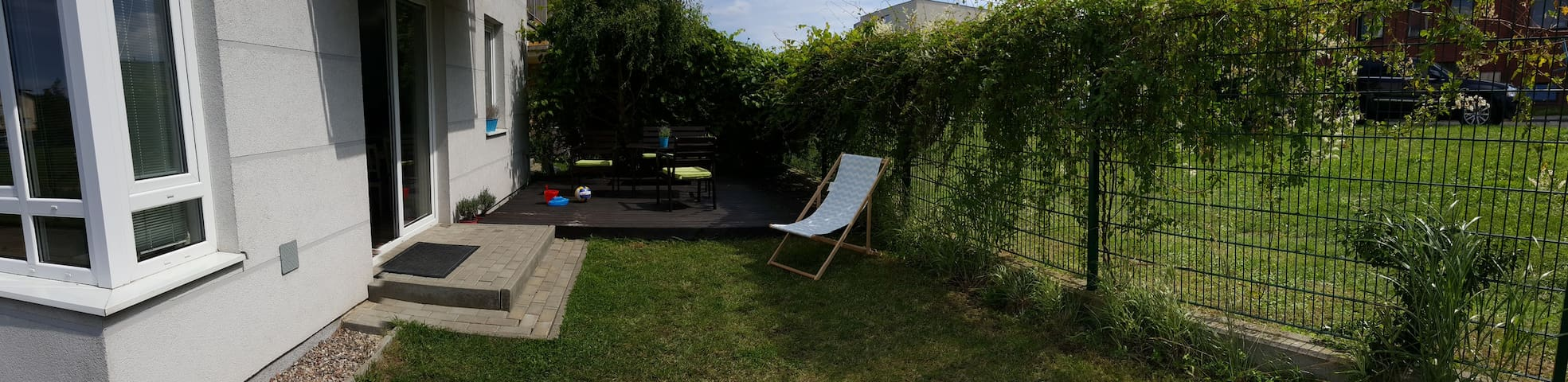Piękny  Apartament z ogrodem.