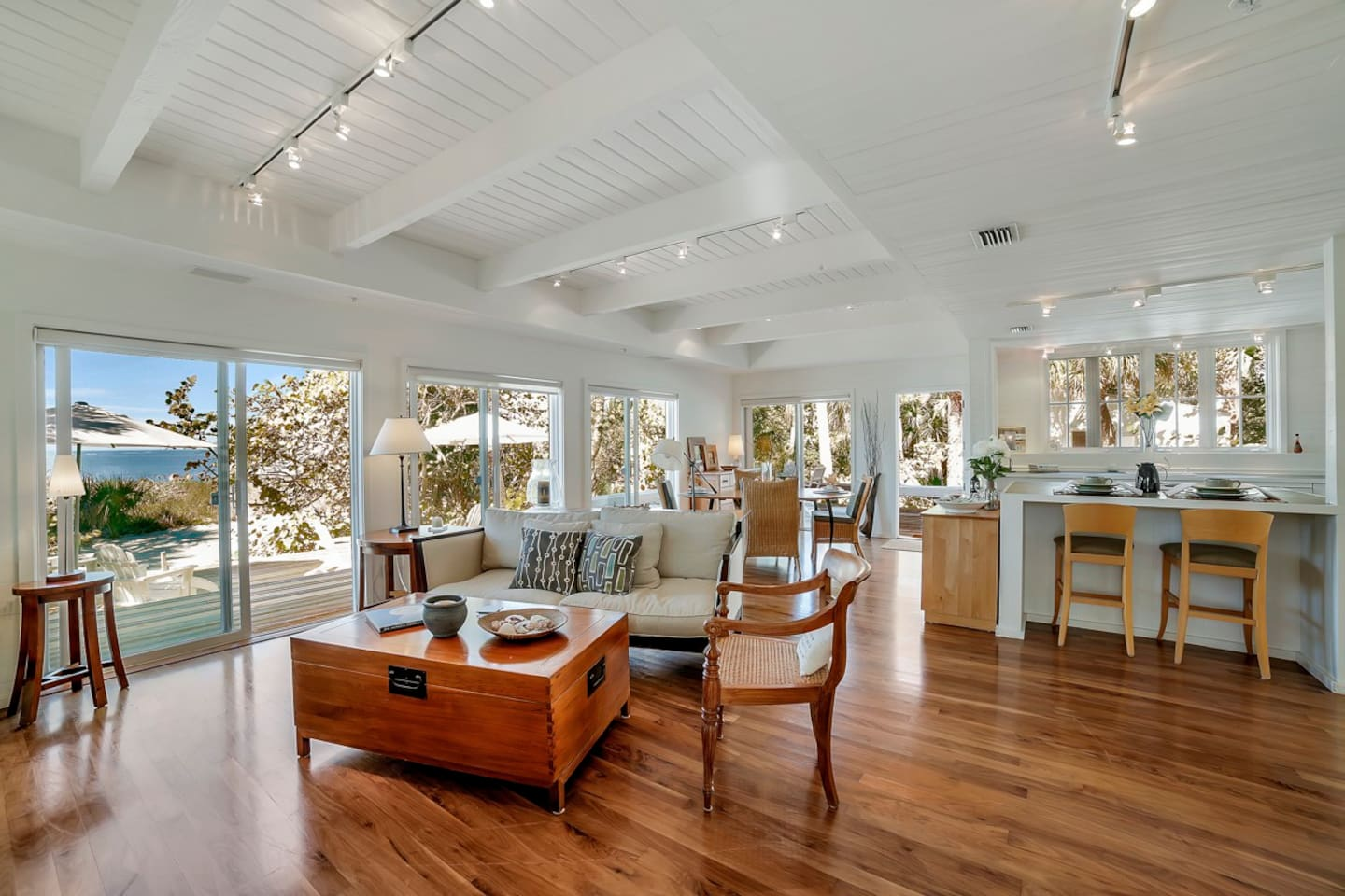 Big House: Great Room, overlooking the Gulf of Mexico and sun porch