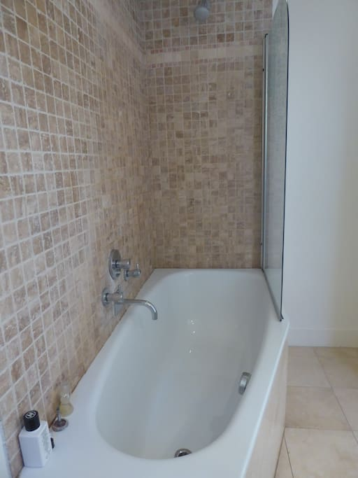 En suite bath and shower