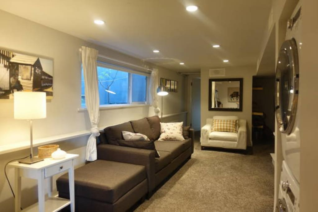 Living Area and Washer/Dryer