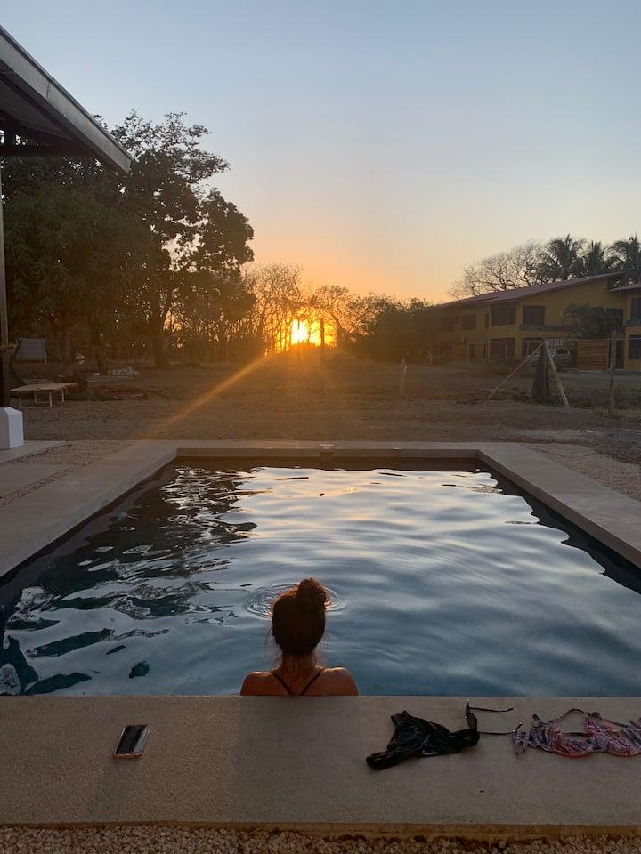 Playa Pelada's Jewel: Steps to the Beach & Sunset