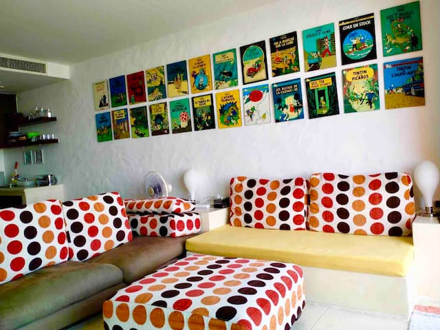 Living area for family and friends to hang out together. Because we care about the quality time....