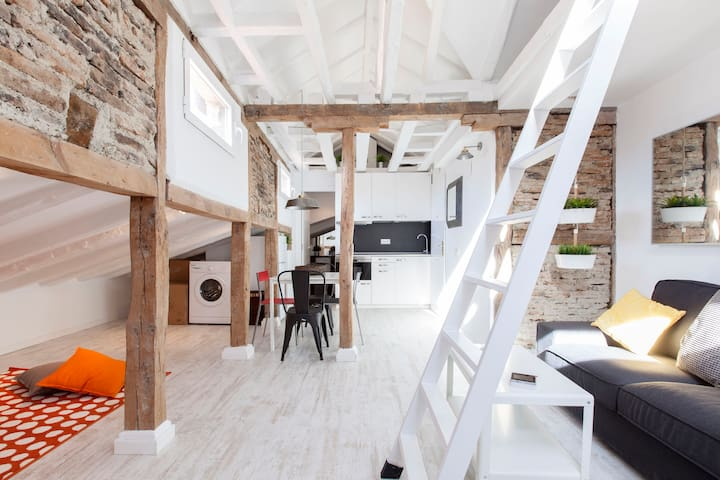 Romantic attic in Madrid