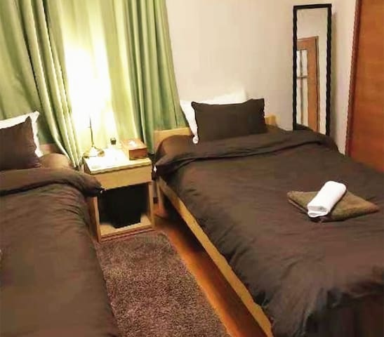 Sun Hotel Tokyo 2 Single Beds Apartment