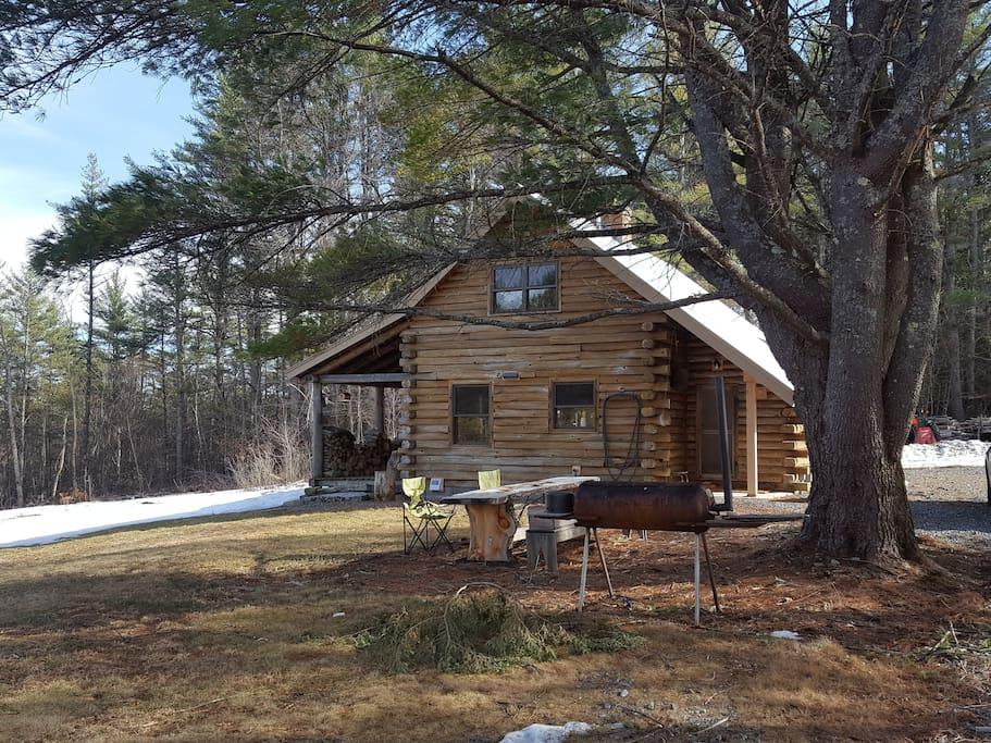Log Cabin On Vermont Farm & Woodland