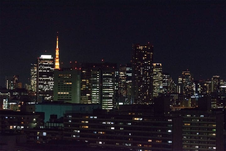 Easy to access! Rich apartment and nice view! - Chuo - Condominium