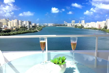 LAGOON & OLD SAN JUAN VIEW AT THE HEART OF CONDADO