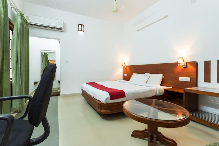 Air conditioned room near forest