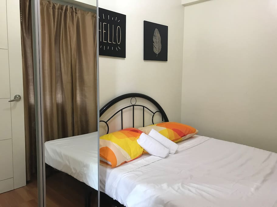 Double bed at the guest's room. Ground floor.