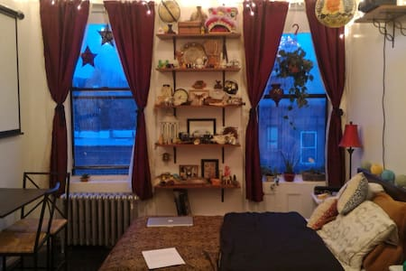 Cozy, Private Studio in Bedstuy, Brooklyn - ブルックリン - アパート