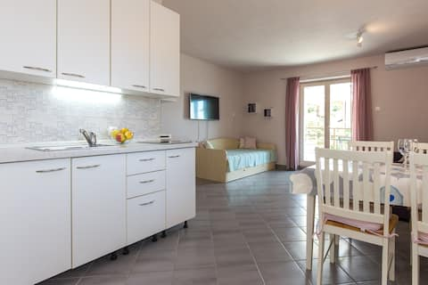 Apartment with a terrace in Krk