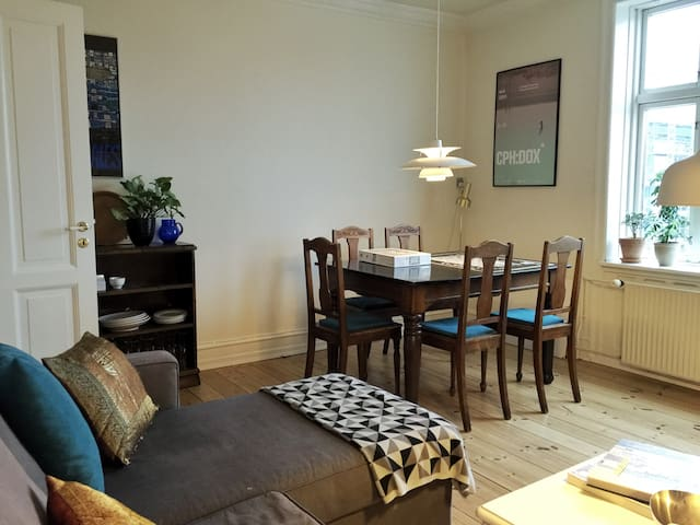 Our shared living room that you're more than welcome to use.