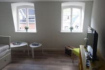 helle Fenster im Wohnzimmer