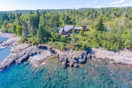 Highway 61 Revisited is a spacious vacation rental home located on the shore of Lake Superior between Two Harbors and Beaver Bay, MN