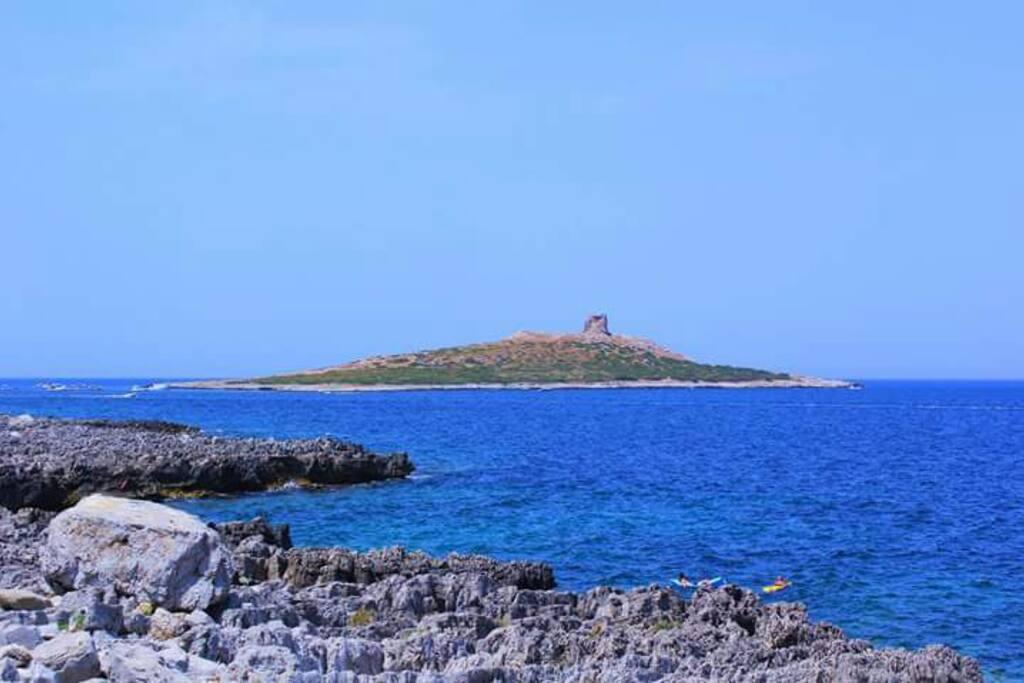 L'isolotto e il mare turchese