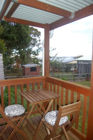 Outdoor table and chairs - perfect for chilling with some of the local wildlife