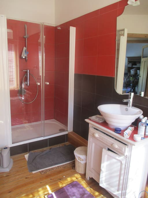 """salle de bain avec grand""""e douche"""