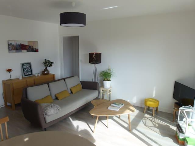 Apt Lumineux et cosy, garage,balcon - Rouen - Apartment