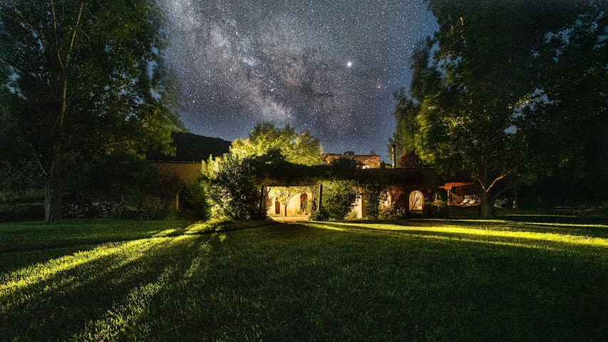 Hacienda at night in the Milky Way - Photo by Amber Boutwell