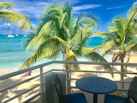 Gorgeous studio ON THE BEACH,ocean view