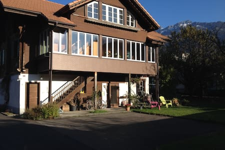 Chalet Waldegg central with garden - Interlaken - Lägenhet