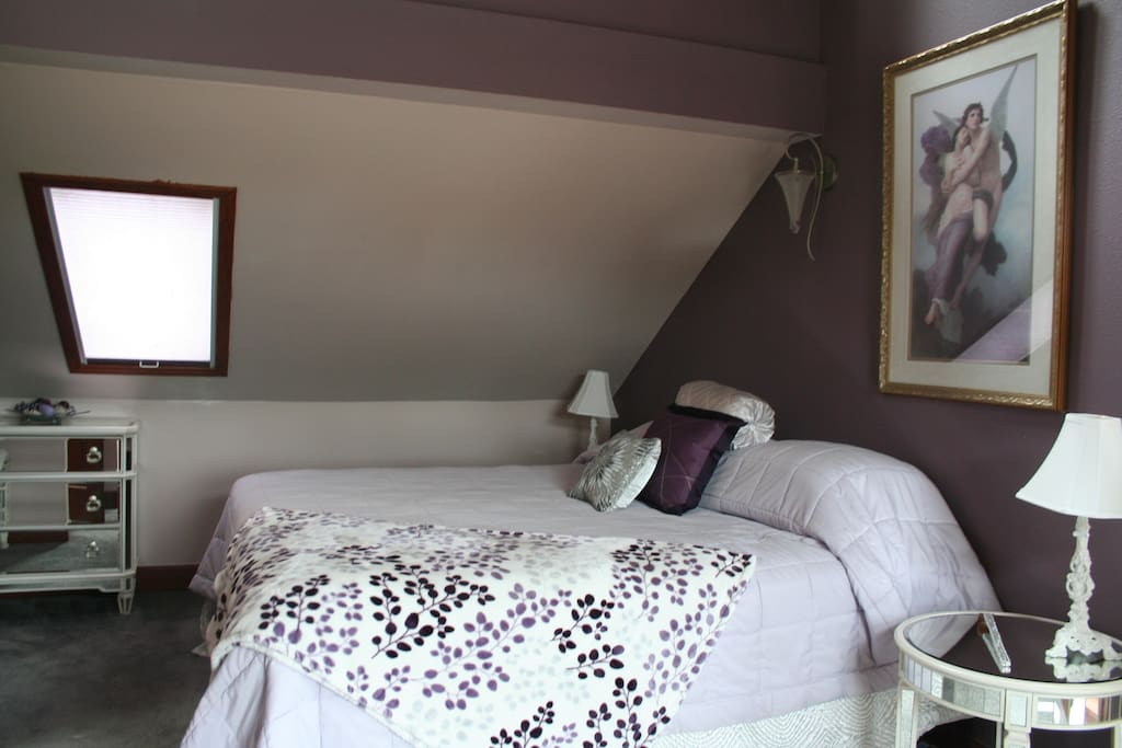 Large private bedroom with keyed entry