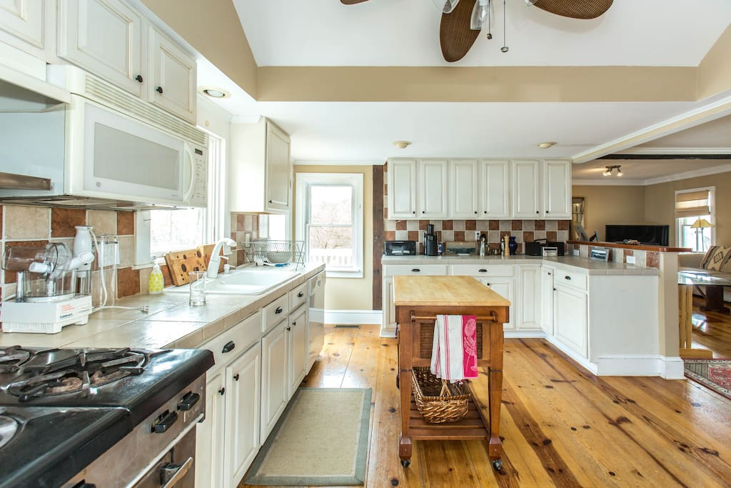 Kitchen with commercial gas stove