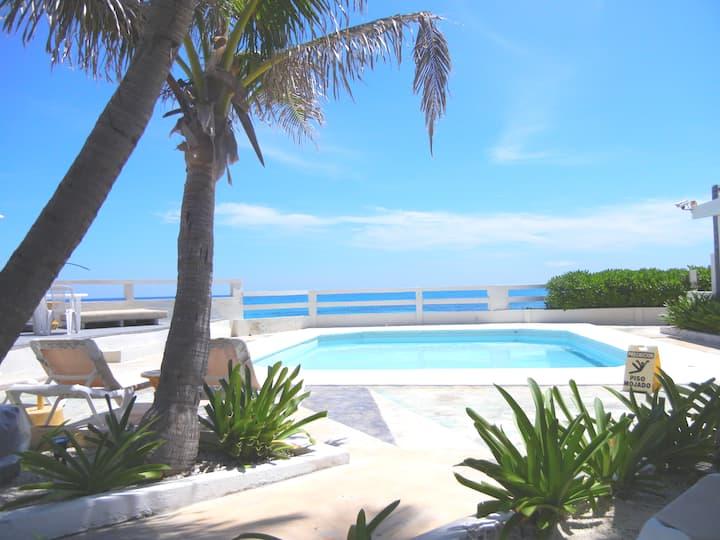 Family beach home total relax Rocamar IslaMujeres