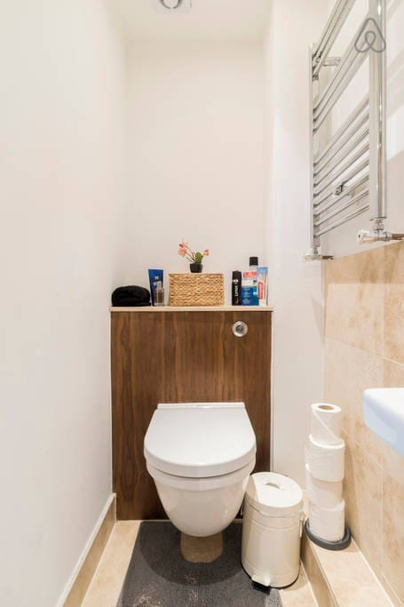 Your private washroom with all common toiletries provided. I love Bayliss and Harding brand and have  them stocked in the washroom always