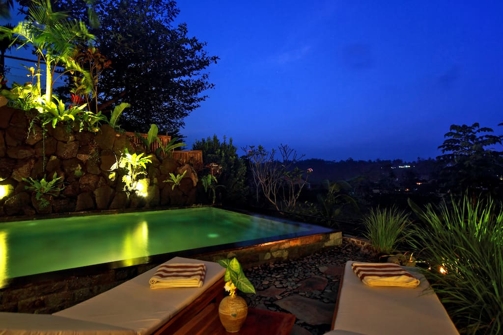 ArtVilla Pool with views of Mt Agung