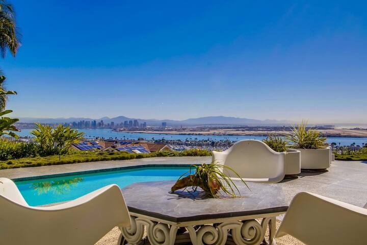 Mid Century Modern Pool and Bayview Estate for 14! - San Diego - Huis