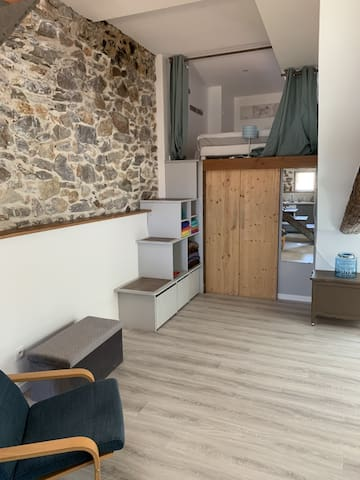 Espace chambre en mezzanine