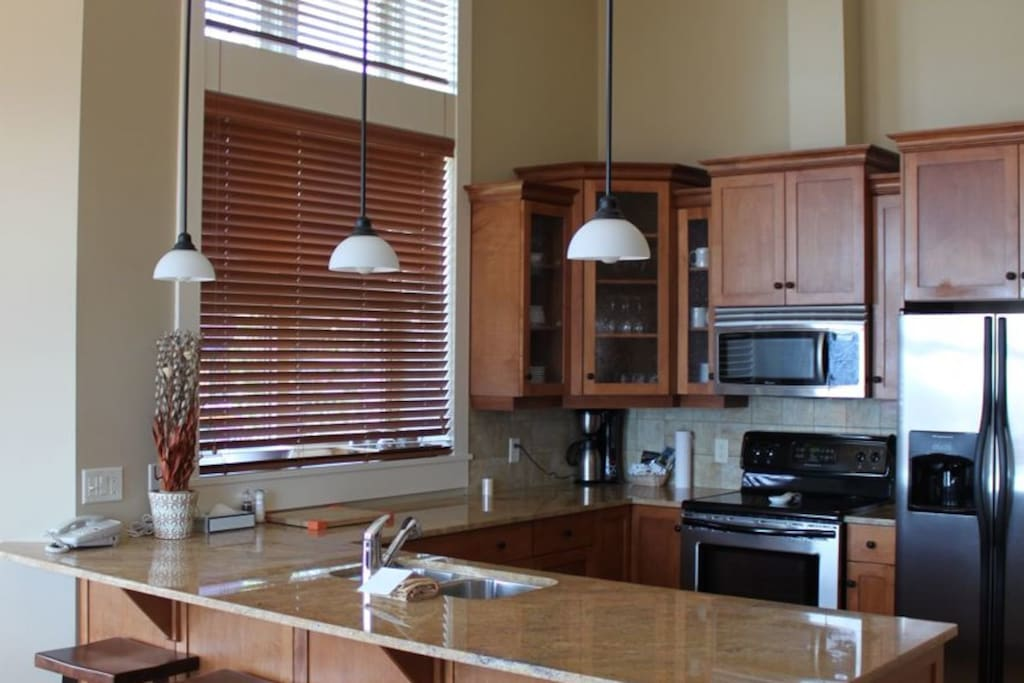 Prepare your meals in the fully-equipped and gourmet kitchen