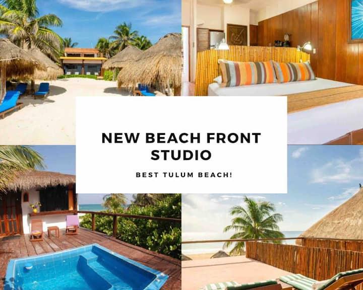 Beach Front Studio ☀Best View on Tulum Beach☀