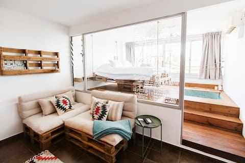 VILAMOURA • BOHO Apartment • bathtub & Netflix
