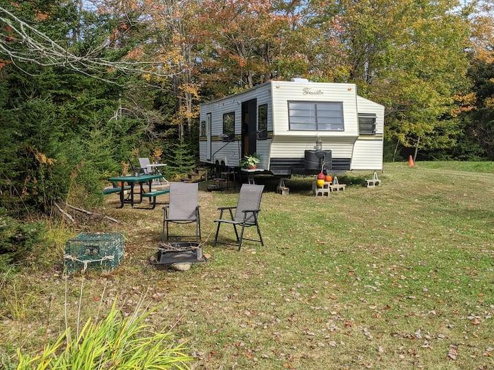 30 ft RV/Camper on Scenic Island, Maine Coast