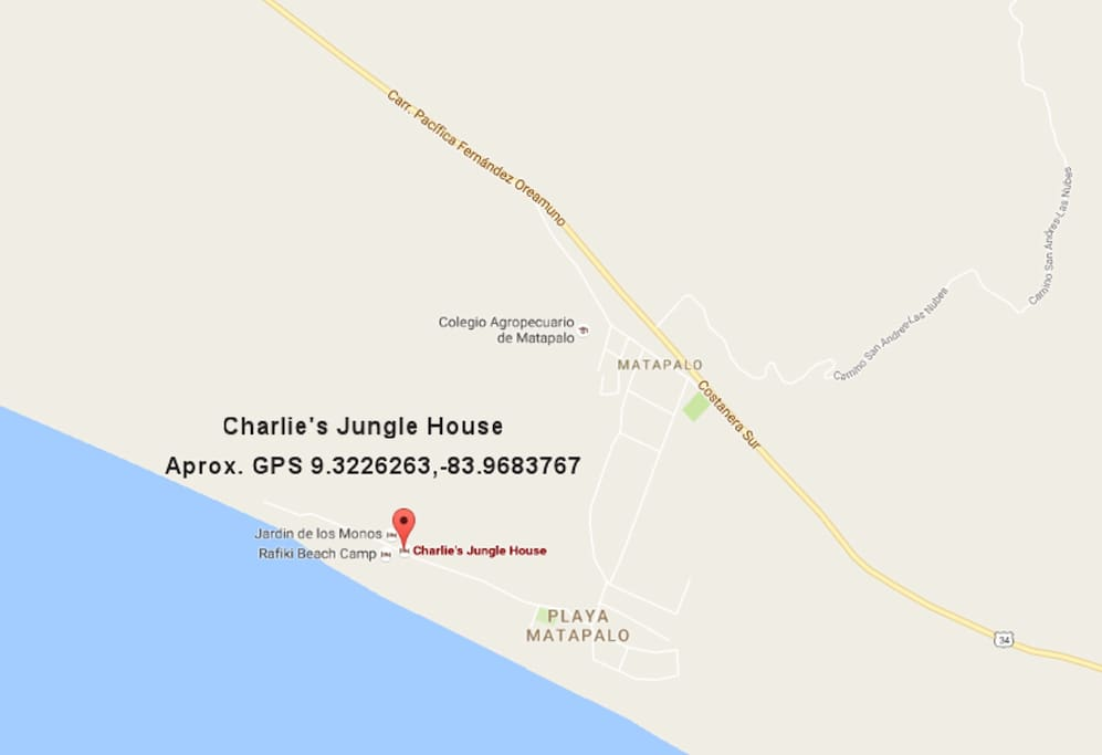 Location Playa Matapalo Beach