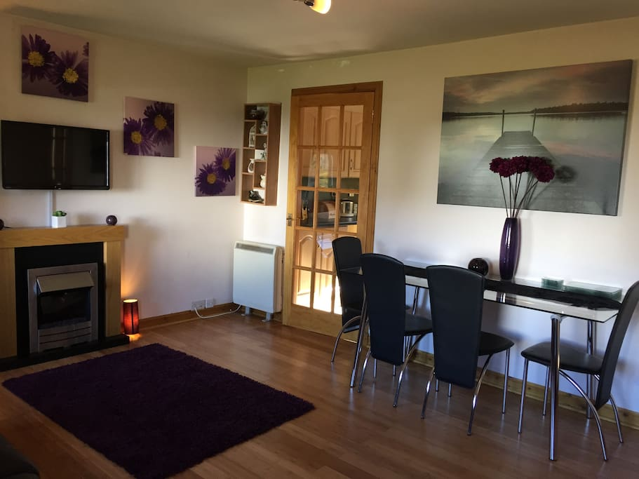Front room with dining table