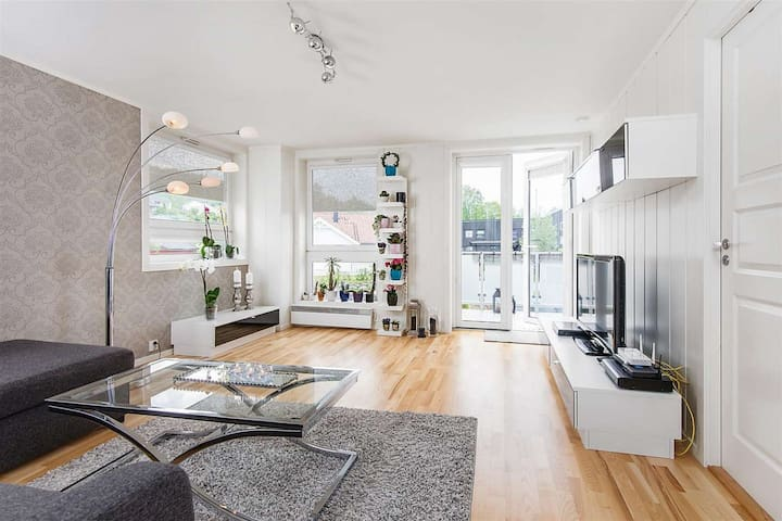 Moderne og sentru(SENSITIVE CONTENTS HIDDEN)ær leilighet med terrasse. - Lillehammer - Wohnung