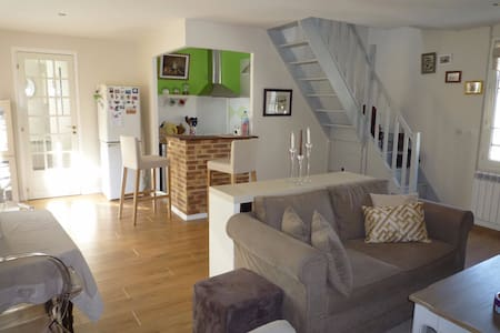 Chambre privée dans duplex de charme 15mn de Paris - Groslay - Apartment