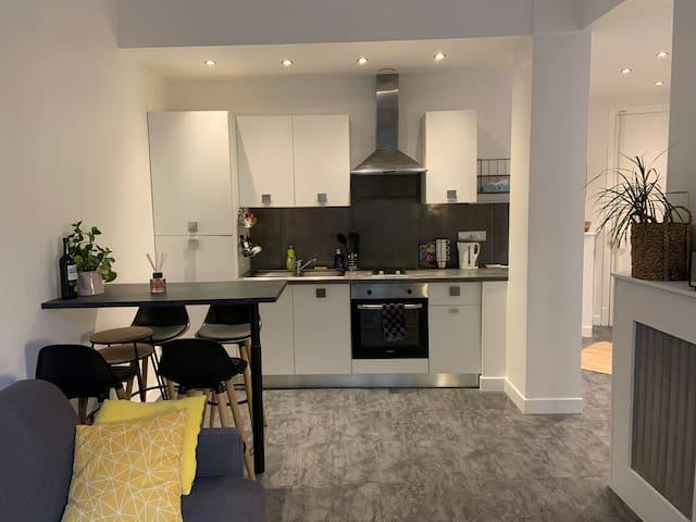 Bel appartement récemment rénové au centre de Nice