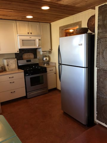 Stainless steel refrigerator with ice maker