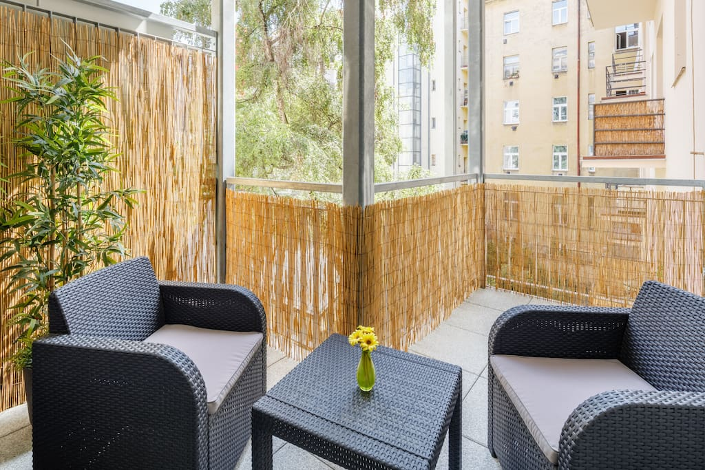 Spacious private terrace with comfortable lounge sittings
