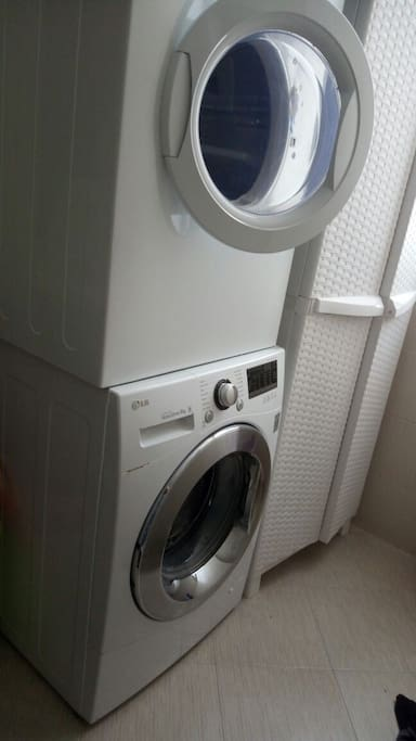 Washing machine and dryer on request.